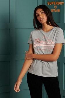 Superdry Vintage Logo Satin T-Shirt