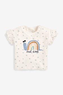 Ecru Spot Snail Character T-Shirt (3mths-7yrs)