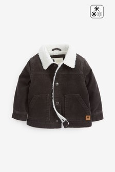 Grey Cord Borg Lined Jacket (3mths-7yrs)