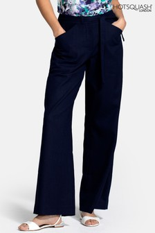 HotSquash Blue Linen Trousers