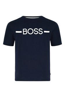 BOSS Boys Navy Cotton T-Shirt
