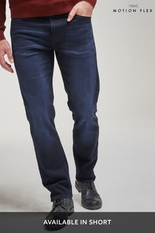 Blue/Black Straight Fit Motion Flex Stretch Jeans