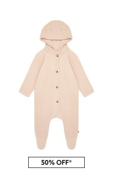 Molo Baby Girls Pink Cotton Babygrow