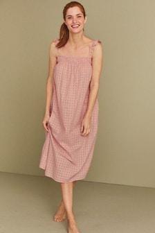 Pink Cotton Night Dress