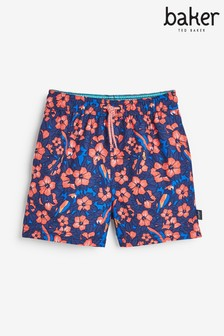 Baker by Ted Baker Boys Rose Print Swim Shorts
