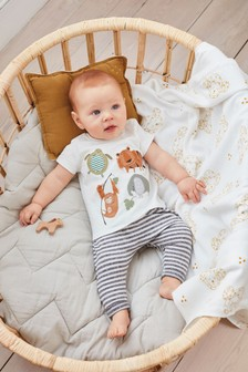 Monochrome 2 Piece Character T-Shirt And Joggers Set (0mths-2yrs)