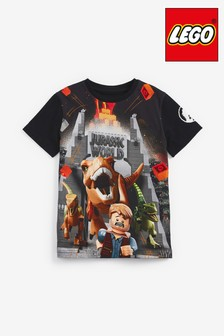 Black LEGO® Jurassic World T-Shirt (4-12yrs)