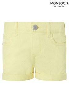 Monsoon Yellow Layla Shorts