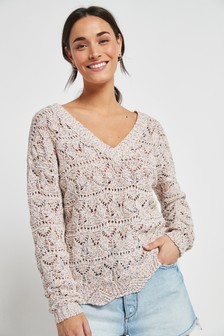 Multi V-Neck Stitch Jumper