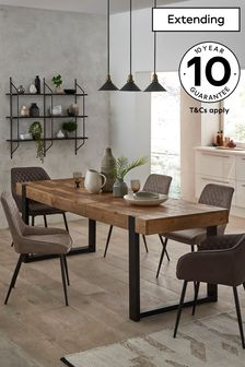 Natural Jefferson 6-8 Extending Dining Table