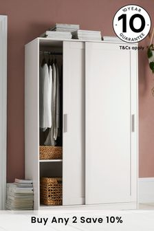 White Flynn Sliding Wardrobe