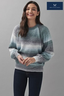 Crew Clothing Company Blue Waterfall Jumper
