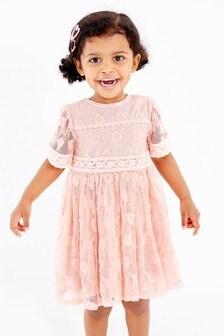 Pale Pink Lace Dress (3mths-7yrs)