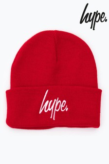 Hype. Red Script Beanie Hat