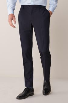 Navy Skinny Fit Suit: Trousers