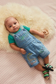 Denim Character Dungarees And Bodysuit Set (0mths-2yrs)