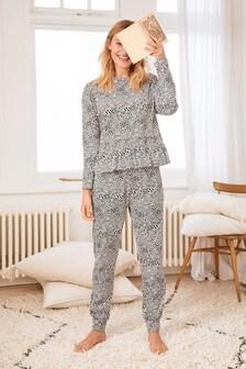Black Heart Cotton Pyjamas