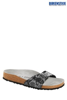 Birkenstock® Black Python Madrid Sandals
