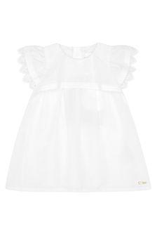 Chloe Kids Girls Cream Cotton Dress