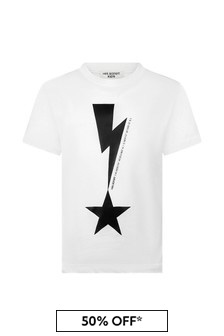 Neil Barrett Boys White Cotton T-Shirt
