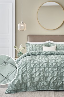 All Over Pleated Duvet Cover And Pillowcase Set