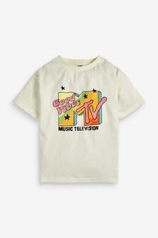 Cream MTV Oversized T-Shirt (3-16yrs)