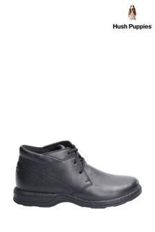 Hush Puppies Black Reggie Lace-Up Shoes