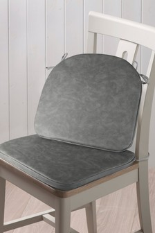 Set of 2 Faux Leather Seat Pads