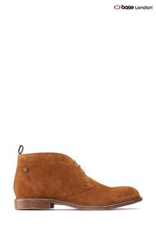 Base London® Tan Jasper Suede Lace-Up Boots