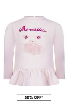 Baby Girls Pink Cotton Jersey Top
