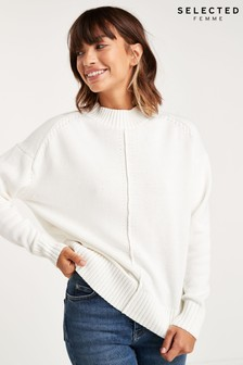 Selected Femme White Seam Detail Cardigan
