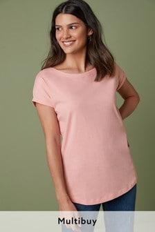 Baby Pink Cap Sleeve T-Shirt