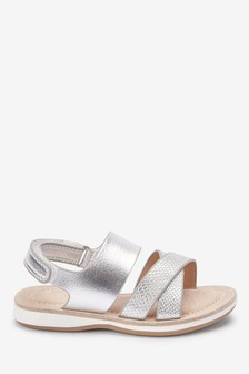 Silver Metallic Sandals (Younger)