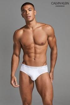 Calvin Klein White Hip Briefs