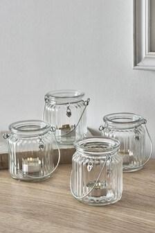 Set of 4 Heart Charm Lanterns