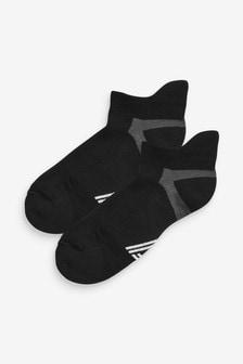Black Blister Resist Sports Trainer Socks Two Pack