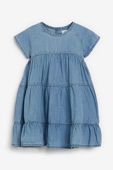 Blue TENCEL™ Tiered Dress (3mths-7yrs)