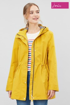 Joules Yellow Shoreside Waterproof A-Line Coat