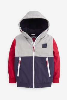 Red/White/Navy Bomber Jacket (3-16yrs)