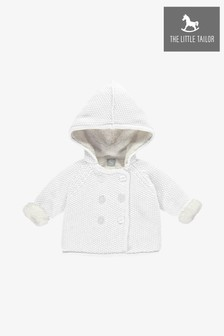 The Little Tailor White Pram Plush Lined Coat
