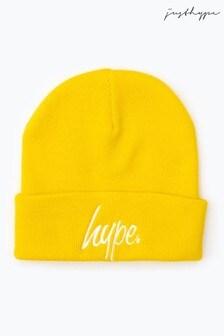 Hype. Yellow Script Beanie