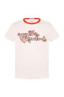 Marc Jacobs Girls Pink Cotton T-Shirt