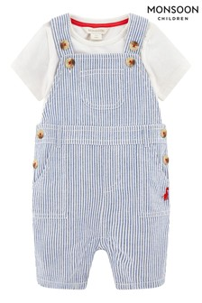 Monsoon Newborn Boy Gabe Dungarees