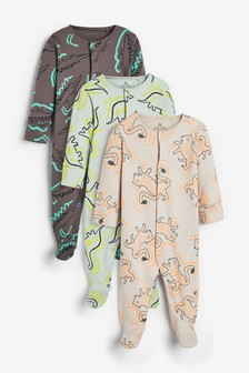 Fluro 3 Pack Character Sleepsuit (0mths-2yrs)