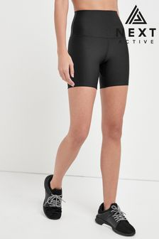 Recycled Black High Waist Sculpting Cycling Shorts