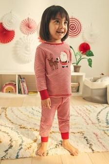 Red Stripe Santa Christmas Pyjamas (3-12yrs)