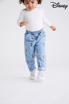 Blue Mickey And Minnie Mouse™ Pull-On Jeans (3mths-7yrs)