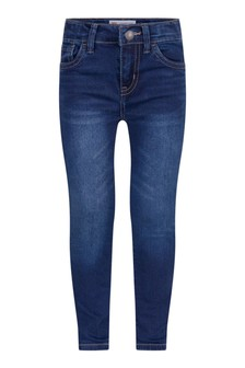 710™ Girls Blue Cotton Super Skinny Jeans