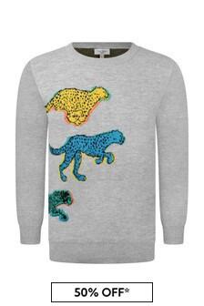 Boys Grey Knitted Jumper