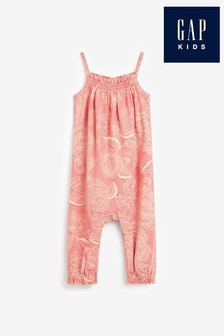 Gap Baby Pink Strappy Jumpsuit
